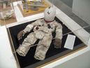 Child Astronaut Test Suit, 1999-2000, nylon, aluminum, silicone, dacron, urethane, steel, 7 1/2 x 19 x 17 1/4 inches (19 x 48 x 43 cm)