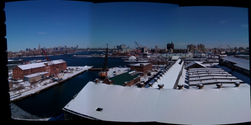 View from top of BPL Navy Yard Facility