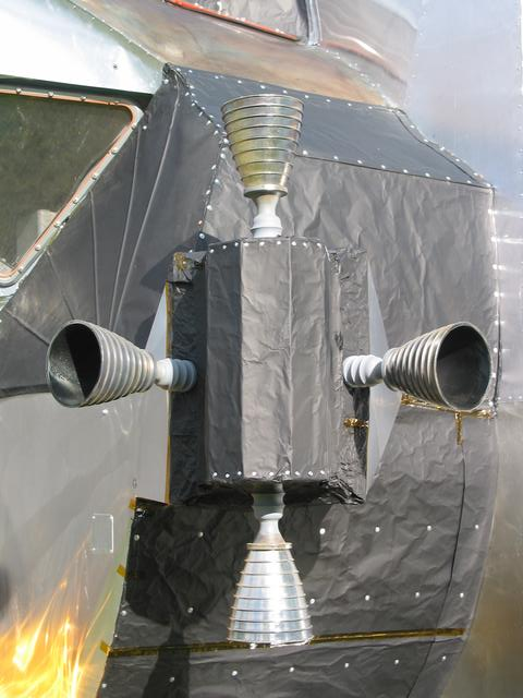LEM, 2003-2007, 13'X11'X14', aluminum, steel, epoxy, wood, rubber, money Exterior, RCS (reaction control system) thruster quad