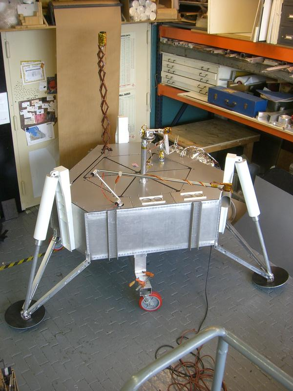 Munin(Module for Unmanned Novel Investigation and Notation) Lander undergoing tests at Brooklyn Navy Yard, 2009.