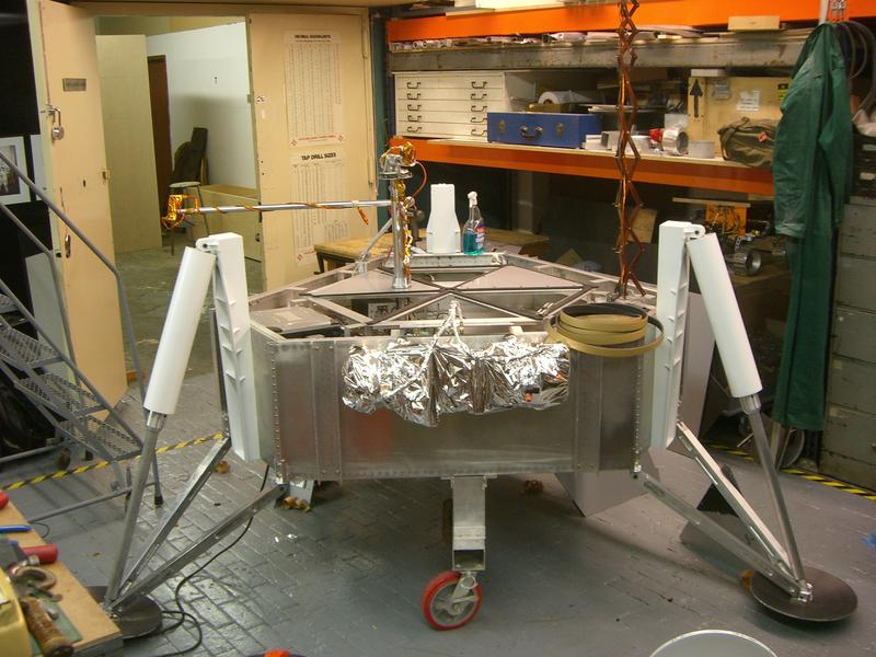 Munin(Module for Unmanned Novel Investigation and Notation) Lander undergoing test of robotic arm, 2009