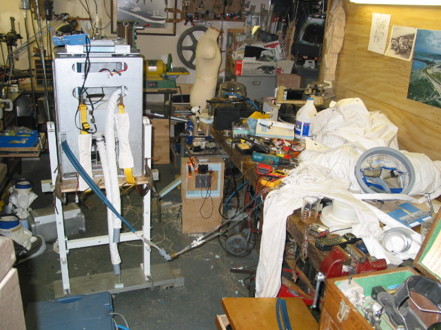 A7LB and PLSS under construction at old Brooklyn Studio, ca. 2003